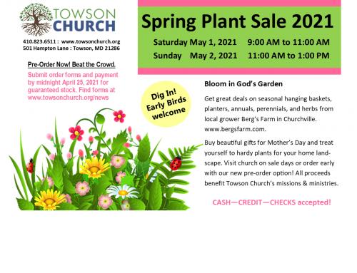 Spring Plant Sale 2021